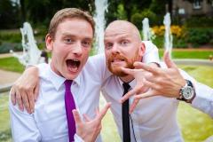Svatební zábava ženicha a svědka