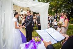 Skládání svatebního slibu